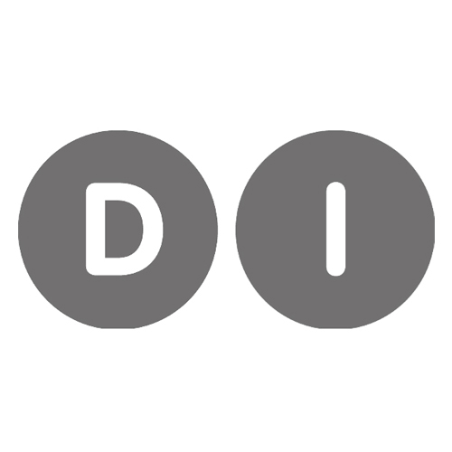 Grayscale version of the DI logo