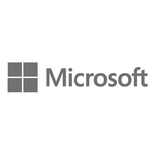 Grayscale version of the MICROSOFT logo